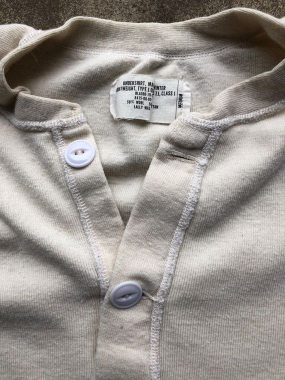 1970s US Military Class 1 wool henley, medium