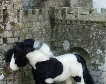 Felted Gypsy Cob Vanner Horse