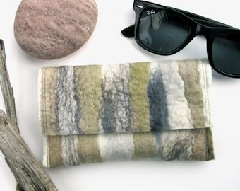 c7690a26f8a8 Soft Sunglass Case - Mens Gift Idea - Reading Glass Pouch - Driftwood