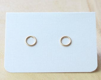Gold Karma Circle Earring Studs | Minimalist Earrings