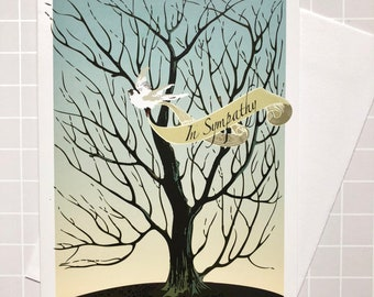 Sympathy Card with White Dove