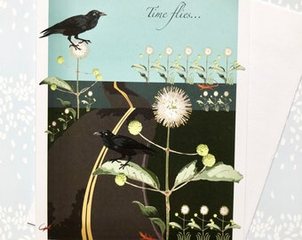 Friendship Greeting Card Side of the Road With Crows