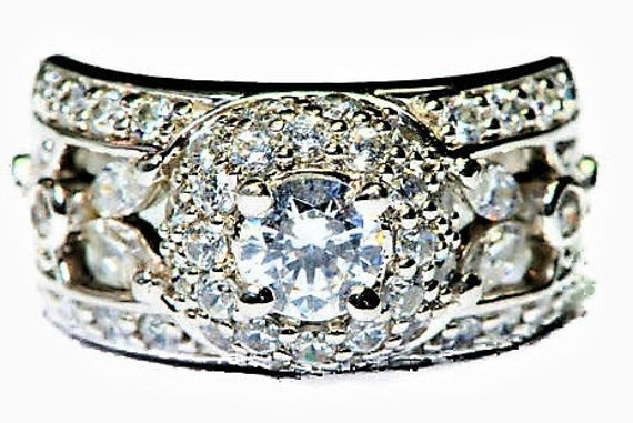 Dark Pink Vintage Style Cushion /& CZ Solid 925 Sterling Silver Beautiful Ring
