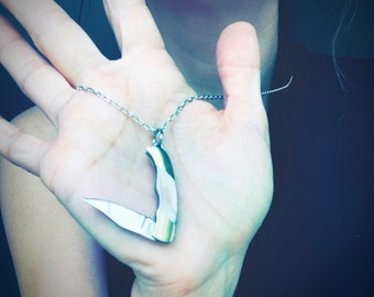 Pocket knife necklace, Hidden knife necklace, Hidden Blade, Hidden knife, Knife necklace, Hidden blade necklace, Hidden knife jewelry