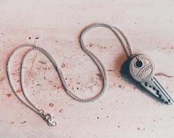 Pocket Knife Necklace, Knife necklace, Key knife necklace, Key pocket knife necklace, Hidden knife necklace,Hidden blade necklace