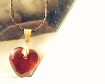 A very romantic Vintage heart necklace.