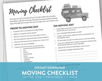 photo about Printable Moving Checklist identify Going listing Etsy