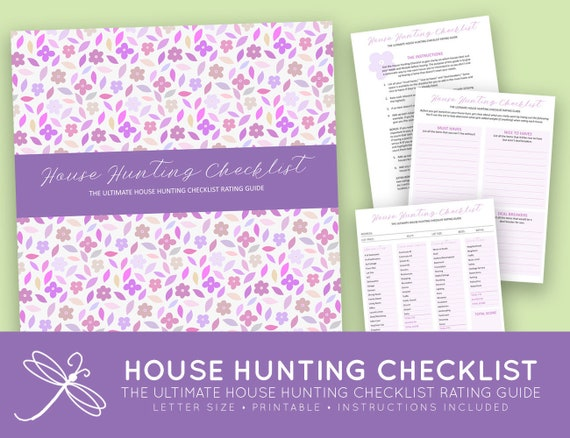 The Ultimate Printable House Hunting Checklist Rating Guide Letter Printable Instant Download