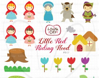 Little Red Riding Hood  Clip Art Set B17