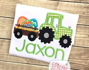Boys Easter Egg Tractor Shirt, Custom Boys Easter Shirt, Easter Tractor Shirt, Boys Easter Shirt, Easter Top, Boy Easter Tee, Boy Easter Top