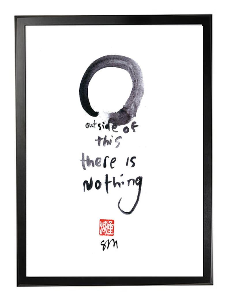 c992f769e9d25 Enso Zen Art Print-Zen Circle or Enso Outside of | Etsy