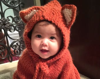 baby halloween costume baby fox baby halloween outfit baby poncho girls cape children clothes baby photo prop baby animal costume