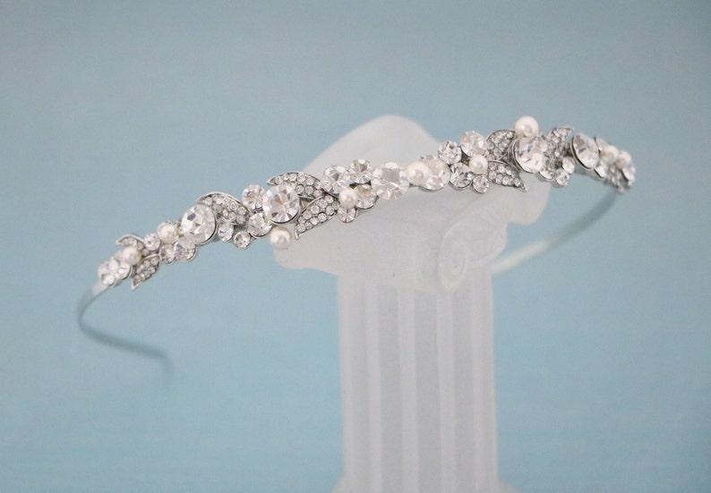 Wedding headband Pearl Bridal headband vintage Wedding Tiaras pearl Bridal Tiaras vintage Wedding hair jewelry Bridal hair accessory pearl