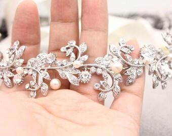 Bridal hair accessories,Wedding headband,Pearl Bridal tiara headband,Wedding hair accessories,Bridal hair vine,Wedding wreaths & tiara pearl