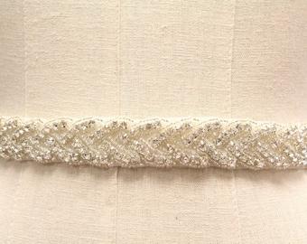 "Crystal bridal sash belt wedding belt sash,18""- 34"" Wedding Sash Belt,Bridal Sash,Bridal Belt,Wedding Dress Sash,Rhinestone Sash,Bridesmaid"