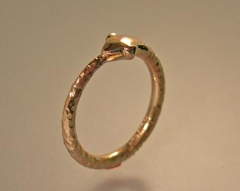 14k Gold Ouroboros Ring