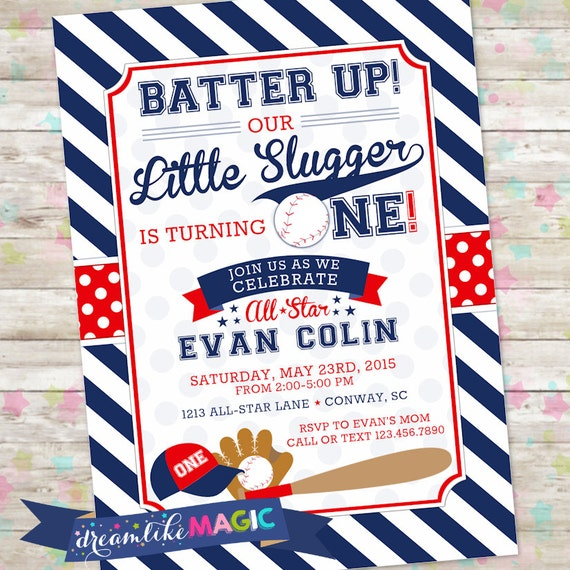 baseball birthday invite baseball invitation all star party etsy