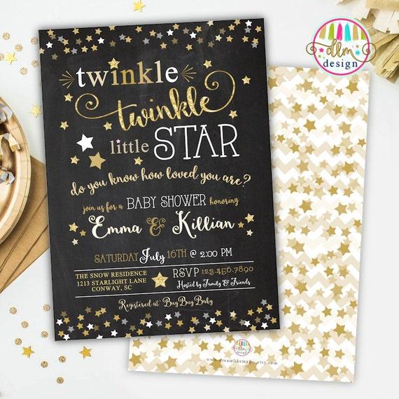 Twinkle twinkle little star baby shower invitation gender neutral il570xn filmwisefo