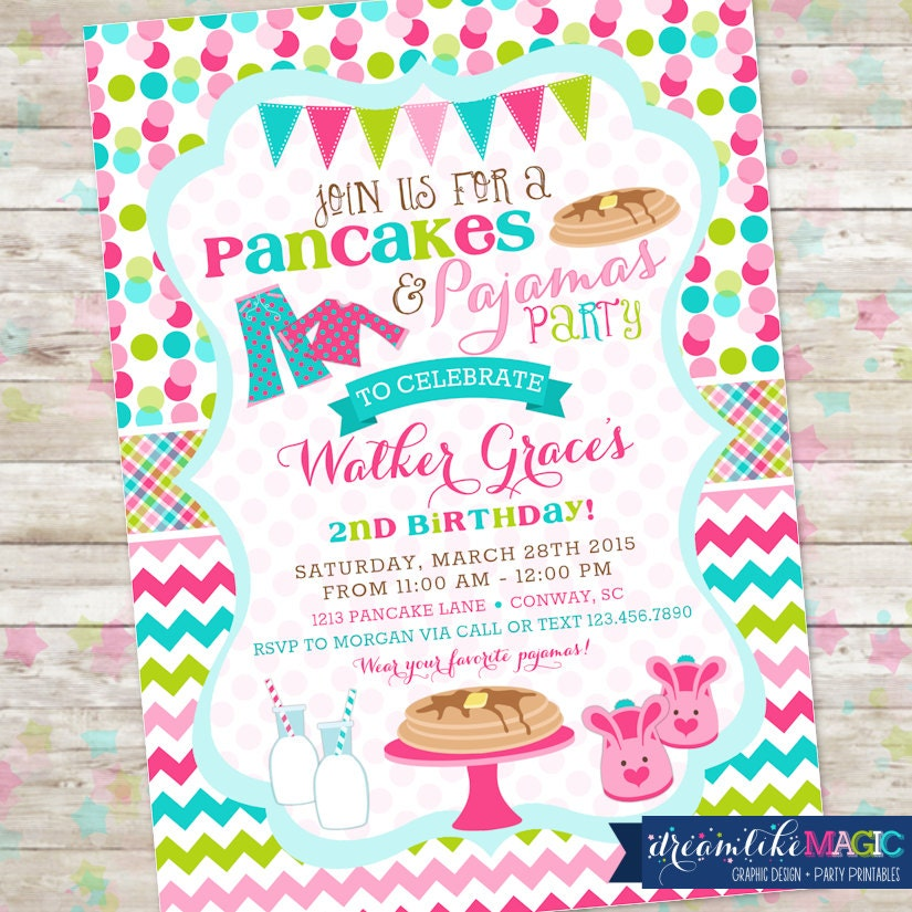 Pancakes and Pajamas Party Pancakes PJS Birthday Party  229a821cf