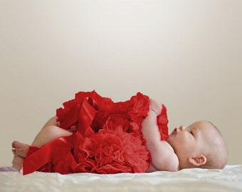 b1d70e6d7c Red Newborn Pettiskirt with free headband with flower