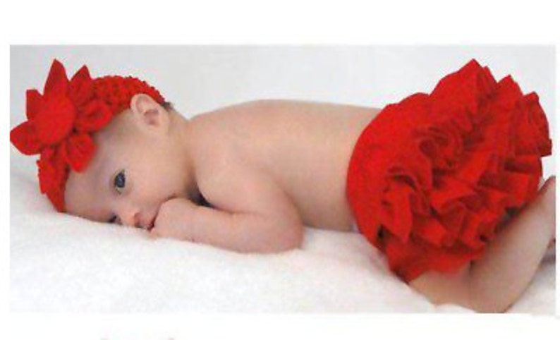 Diaper Cover Infant Bloomer with flowered headband