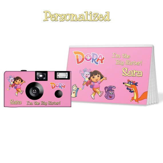Dora The Explorer Camera And Photo Album Set PERSONALIZE Big