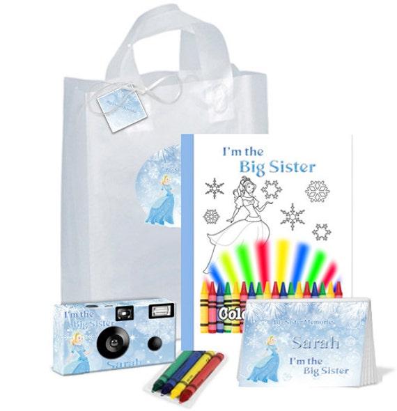 Im The Big Sister Gift Bag Ice Princess PERSONALIZE Brother Birthday Christmas FREE Options PKG701