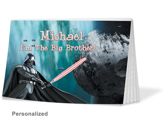 Darth Vader Big Sister Brag Book Christmas Gift Birthday Hanukkah Brother 12 Free Text Options PA 869