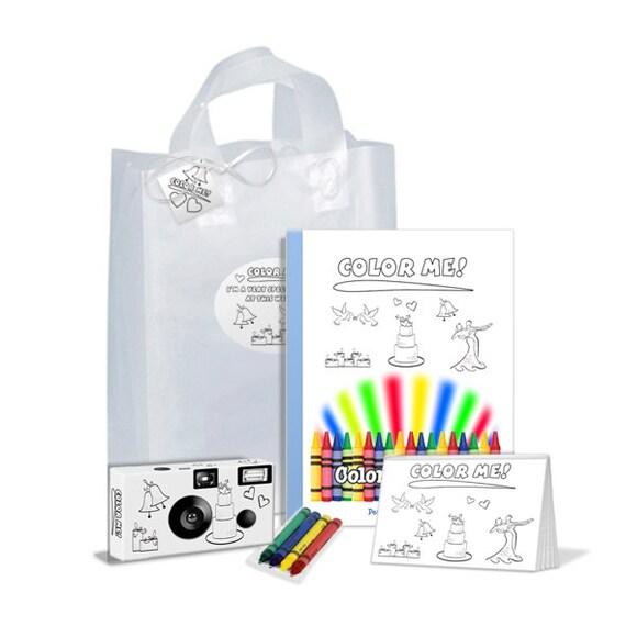 Color Me Wedding Gift Bag For Kids Unique Child Wedding Favor