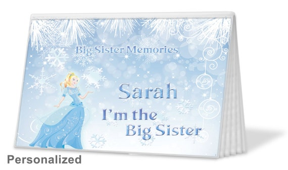 Ice Princess Big Sister Brag Book Christmas Gift Birthday Hanukkah Brother 12 Free Text Options