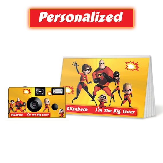 The Incredibles Camera And Photo Album Set PERSONALIZE Big Sister Gift Brother Birthday Christmas