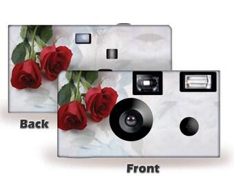 5 cameras-Simple Elegance Disposable Cameras-FUJI color film-PERSONALIZE-wedding cameras, Anniversary, party, sweet 16(FJ3602)
