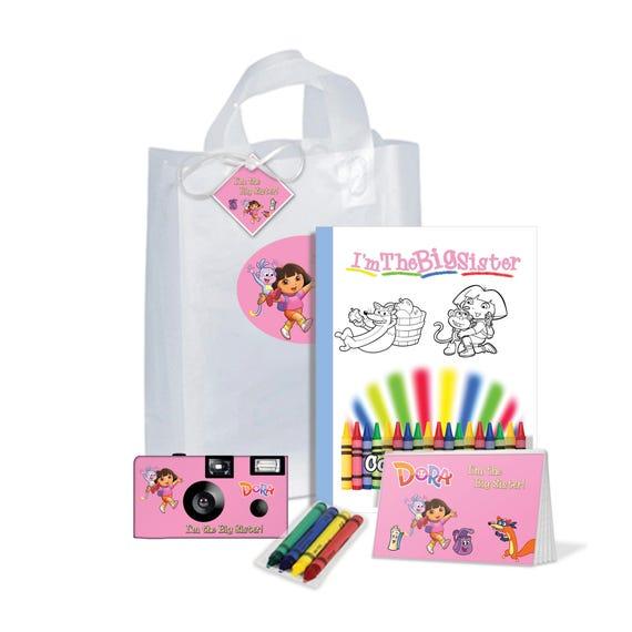 Im The Big Sister Gift Bag Dora Explorer PERSONALIZE Brother Birthday Christmas FREE Options PKG583