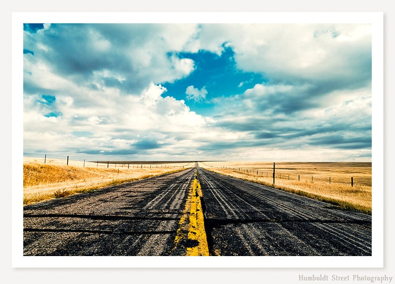 I Come From Nowhere  Landscape Photography  Open Road Photo image 0