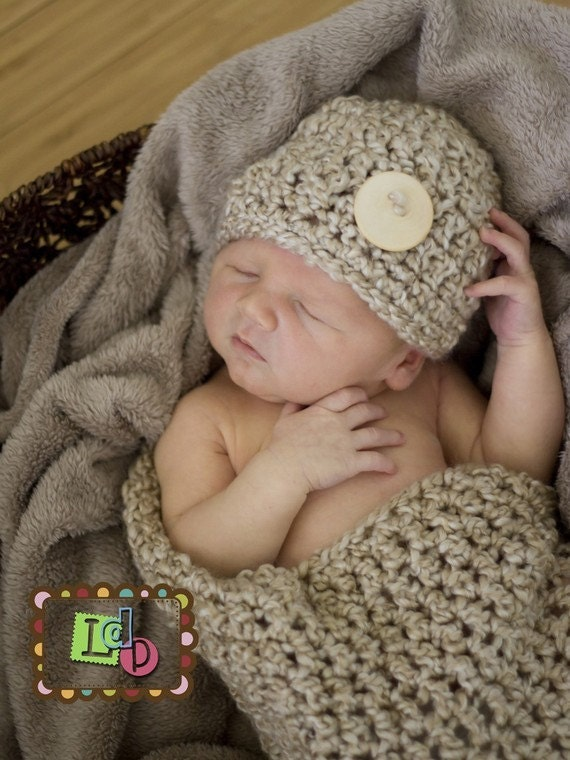 be3939be7 Hat and Cocoon Cozy Newborn Baby Photo Prop in PEARL or ANY