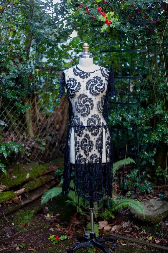1920's Lace Flapper Dress XS