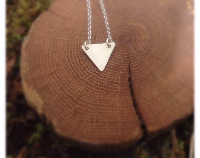 Minimalist Silver Triangle Necklace