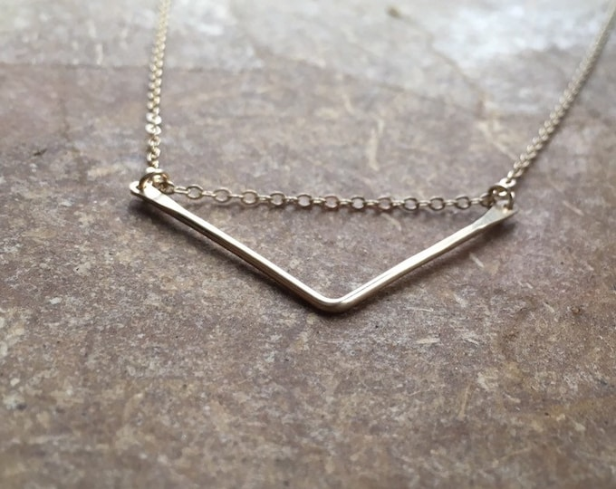 14K Gold-Filled Chevron Necklace