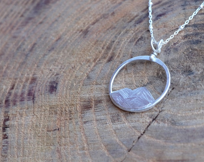 The Mountains are Calling Necklace/ Silver Mountain Necklace