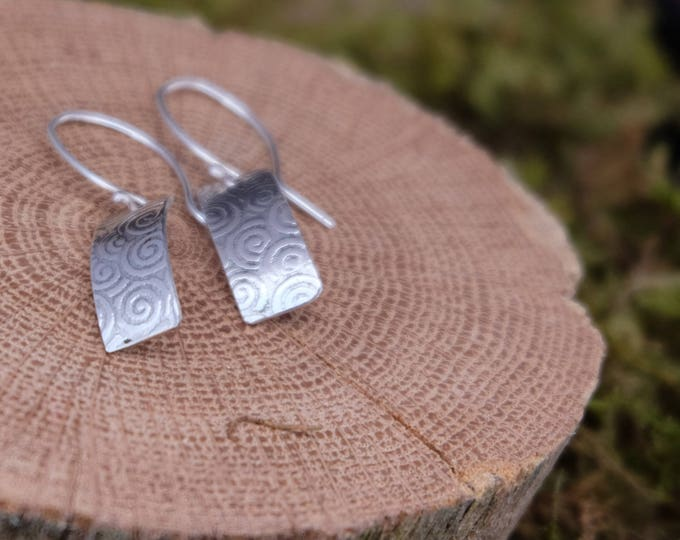 Sterling silver swirl earrings