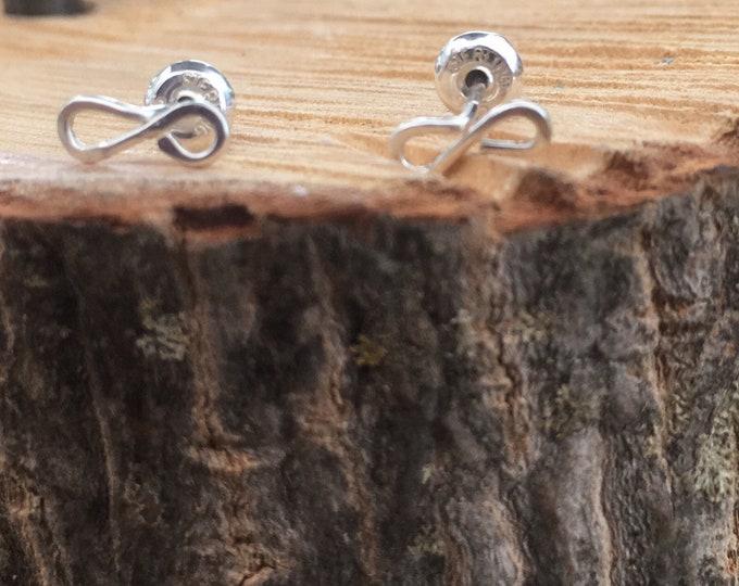 Tiny Infinity Stud Earrings
