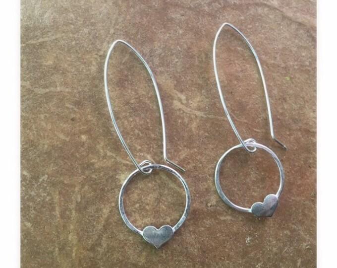 Silver Heart Dangles