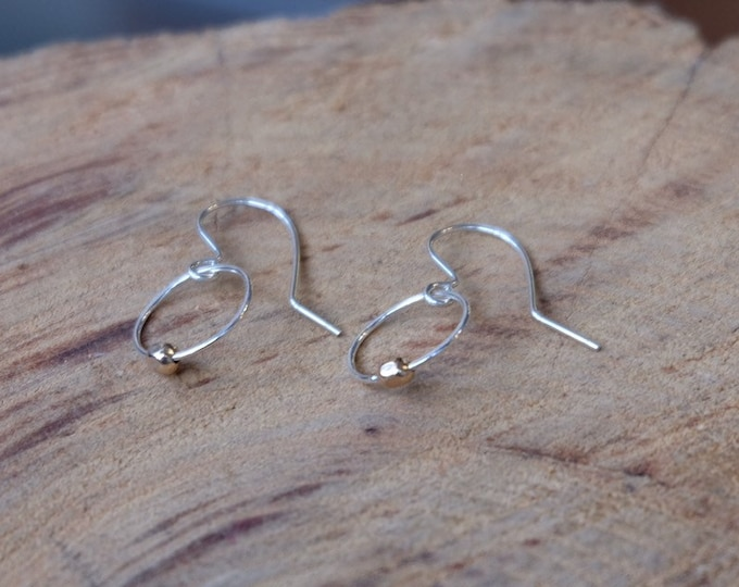 Silver and Gold Tiny Hoops