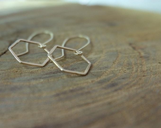 Hexagon Earrings/Honeycomb Earrings