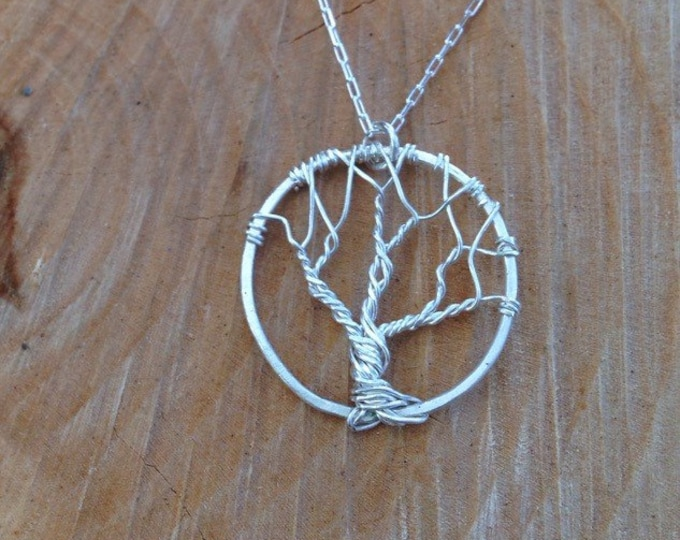 Small Sterling Silver Tree of Life Necklace