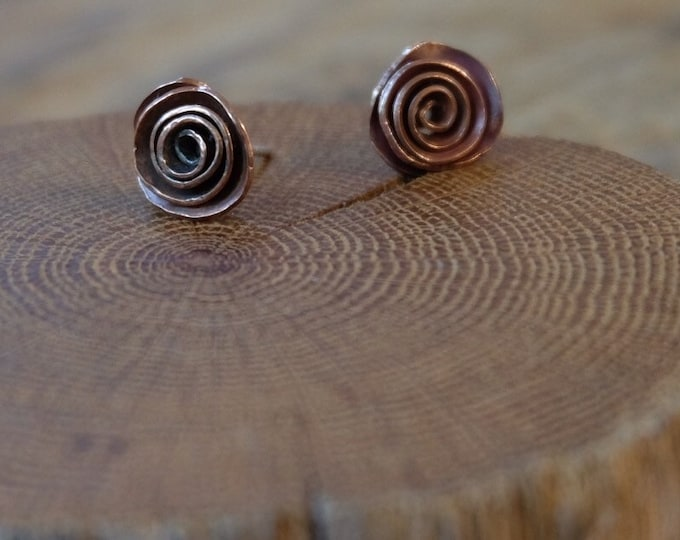 Copper Rose Studs