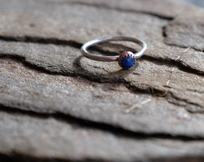 Lapis Cabochon Ring