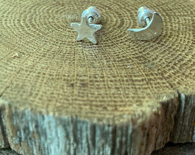 Moon and Star Celestial Studs