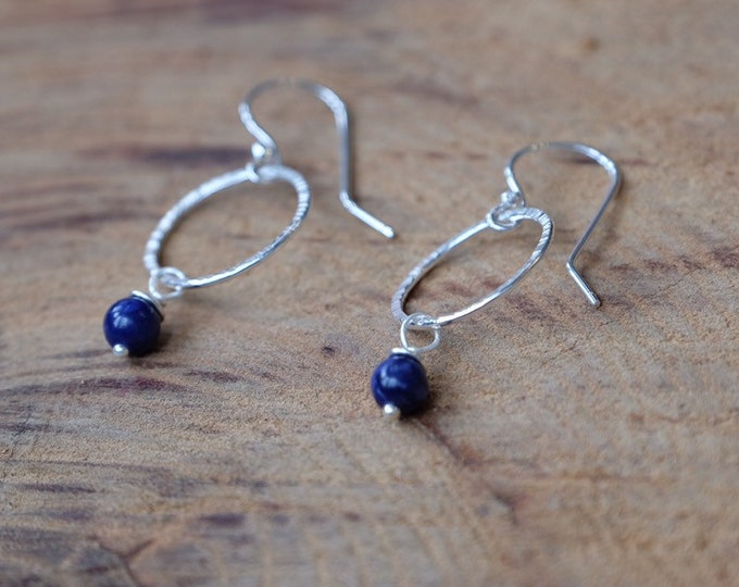 Cobalt Blue and Silver Dangles