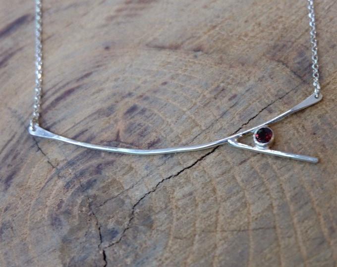 Garnet Branch Necklace